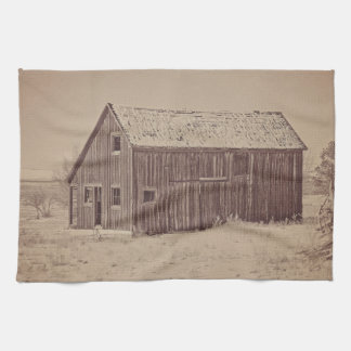 Old Wood Reed's Place Kitchen Towel Western Barn