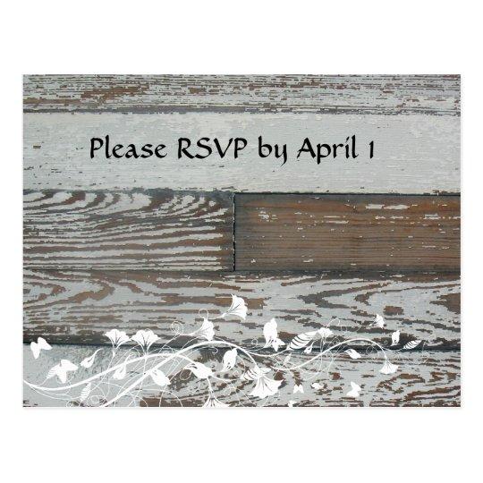 Old Wood RSVP Postcard