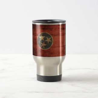 Old Wood Tennessee Flag; Travel Mug