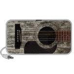Old Wood Top Acoustic Guitar Mp3 Speaker