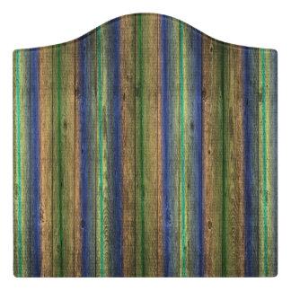 old wood vintage pattern door sign
