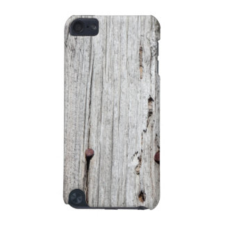 Old wood with rusty nails iPod touch case