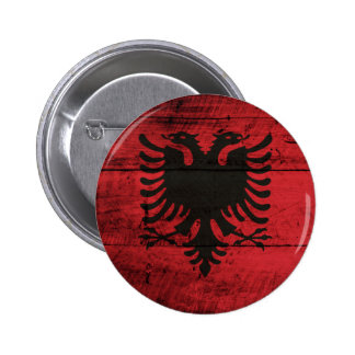 Old Wooden Albania Flag Pins