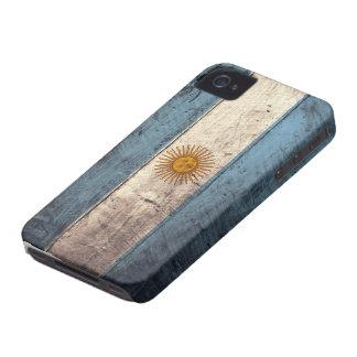 Old Wooden Argentina Flag Case-Mate iPhone 4 Case