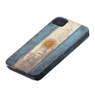 Old Wooden Argentina Flag iPhone 4 Covers
