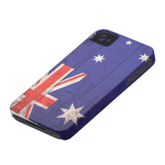 Old Wooden Australia Flag iPhone 4 Covers