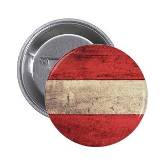Old Wooden Austria Flag Button