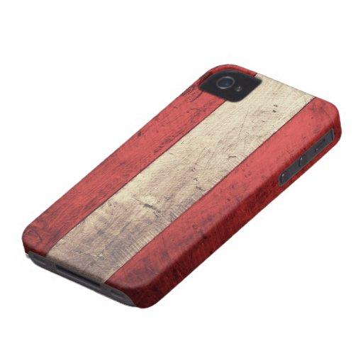 Old Wooden Austria Flag Blackberry Case