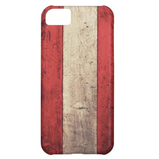Old Wooden Austria Flag iPhone 5C Case