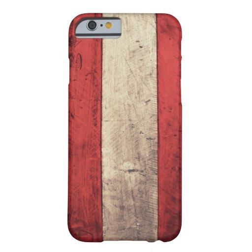 Old Wooden Austria Flag iPhone 6 Case