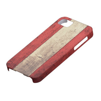 Old Wooden Austria Flag Case For The iPhone 5