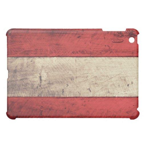 Old Wooden Austria Flag iPad Mini Case