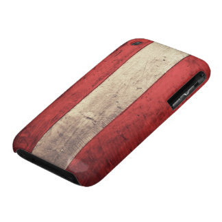 Old Wooden Austria Flag iPhone 3 Case