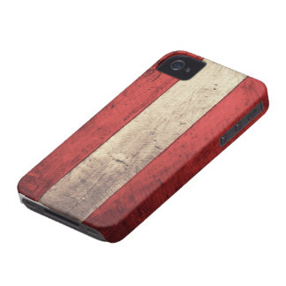 Old Wooden Austria Flag iPhone 4 Covers