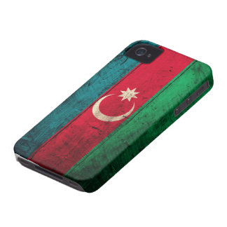 Old Wooden Azerbaijan Flag Case-Mate iPhone 4 Cases
