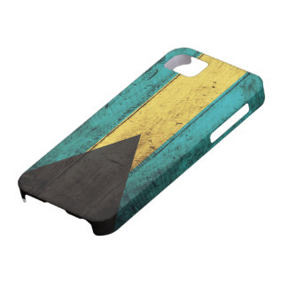 Old Wooden Bahamas Flag Case For The iPhone 5