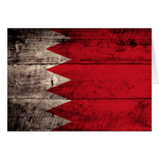 Old Wooden Bahrain Flag Note Card