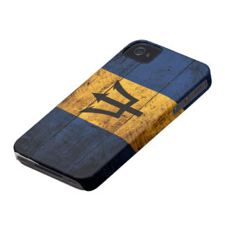 Old Wooden Barbados Flag iPhone 4 Case-Mate Case