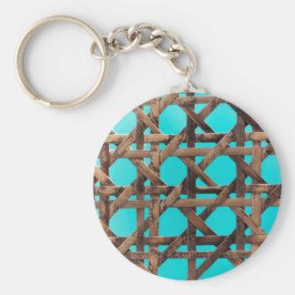 Old wooden basketwork key ring