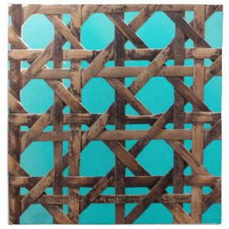 Old wooden basketwork napkin