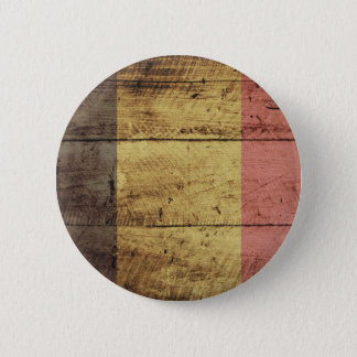 Old Wooden Belgium Flag 6 Cm Round Badge