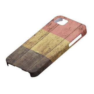 Old Wooden Belgium Flag Barely There iPhone 5 Case