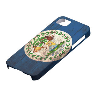 Old Wooden Belise Flag iPhone 5 Covers