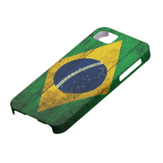 Old Wooden Brazil Flag iPhone 5 Cases