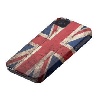 Old Wooden British Flag iPhone 4 Case
