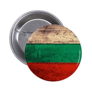 Old Wooden Bulgaria Flag Buttons