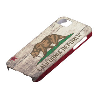 Old Wooden California Flag iPhone 5 Case