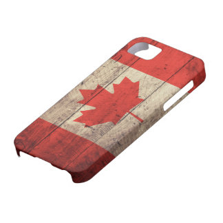 Old Wooden Canadian Flag Barely There iPhone 5 Case