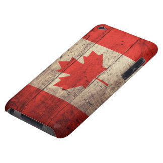 Old Wooden Canadian Flag Case-Mate iPod Touch Case