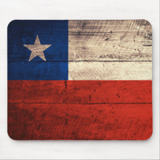 Old Wooden Chile Flag Mouse Pad