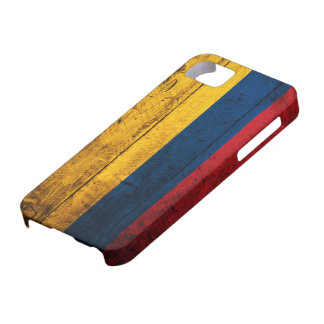 Old Wooden Colombia Flag Barely There iPhone 5 Case
