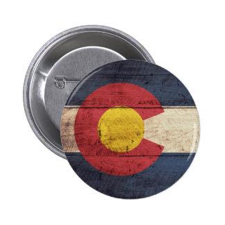 Old Wooden Colorado Flag Pin