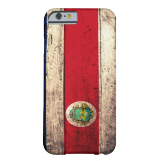 Old Wooden Costa Rican Flag Barely There iPhone 6 Case