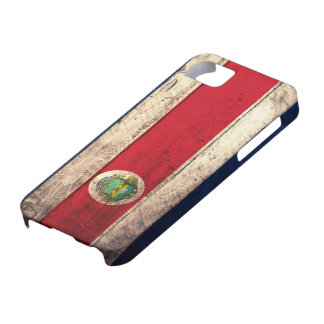 Old Wooden Costa Rican Flag iPhone 5 Cases