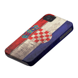 Old Wooden Croatia Flag Case-Mate iPhone 4 Case
