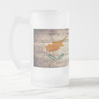 Old Wooden Cyprus Flag; Mugs