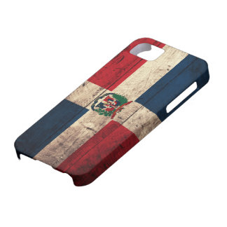 Old Wooden Dominican Republic Flag iPhone 5 Case