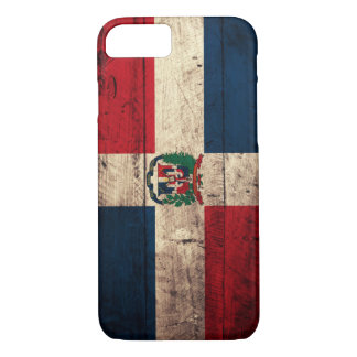 Old Wooden Dominican Republic Flag iPhone 7 Case