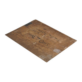 """Old """"Wooden"""" Doormat with (or without) your Name"""