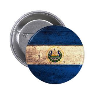 Old Wooden El Salvador Flag Pins