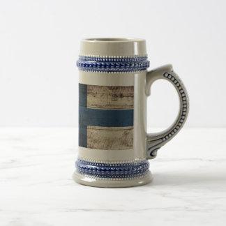 Old Wooden Finland Flag Coffee Mug