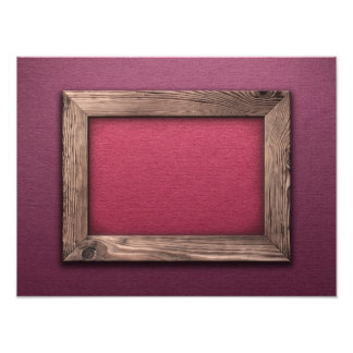 Old Wooden Frame Photo Print