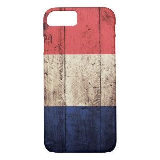 Old Wooden France Flag iPhone 7 Case