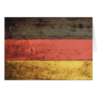 Old Wooden Germany Flag Greeting Cards