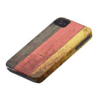 Old Wooden Germany Flag iPhone 4 Case
