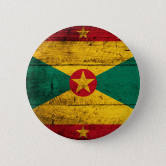Old Wooden Grenada Flag 6 Cm Round Badge